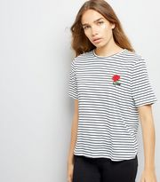 http://www.newlook.com/row/womens/clothing/tops/navy-stripe-rose-embroidered-t-shirt/p/544627749